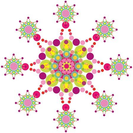 retro funky purple lace snowflake Stock Vector - 1815922