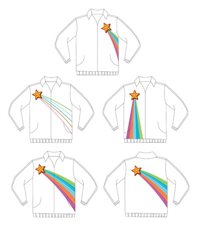 retro shining star jacket design Stock Vector - 1815930