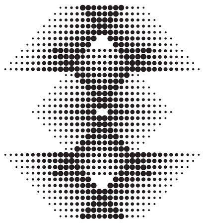 halftone diamond pattern