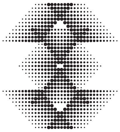 diamonds on black: halftone diamond pattern