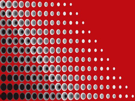 halftone black grey on red background pattern