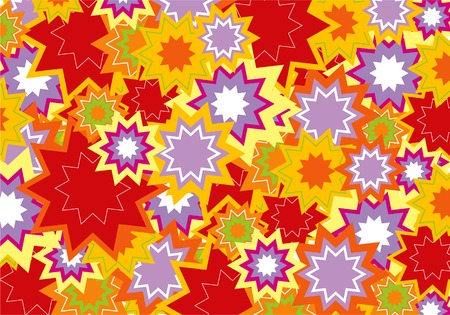 red and purple star flower power background Vector