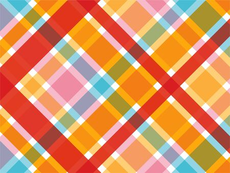 candy red and pink diagonal plaid pattern Vector
