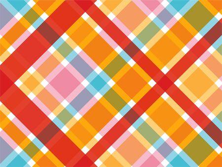 rouge et rose bonbon diagonale motif plaid