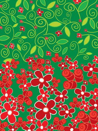 stylize: rode rozen en Daisy Flower Power
