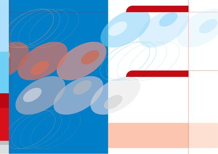 blue, red and grey abstract retro dots background template Vector