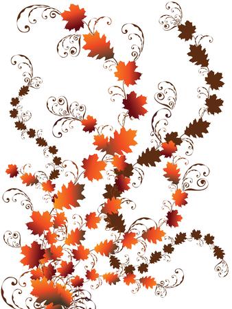 autumn leaves swirls