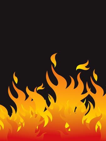 chaud le feu de fond Illustration
