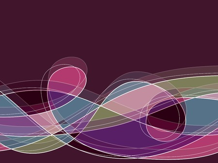 retro purple scribble loop lines Vector