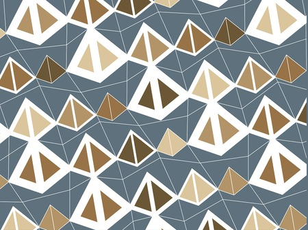 retro brown pyramids Vector