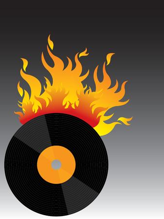 scorching: hot vinyl on fire!