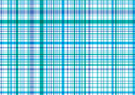 gingham: retro blue purple plaid - illustrated pattern background