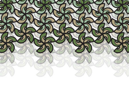 neutral: earth flower star - illustrated background