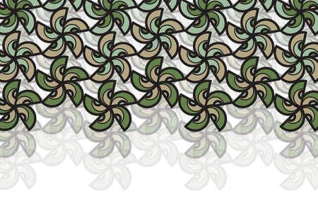 dark olive: earth flower star - illustrated background