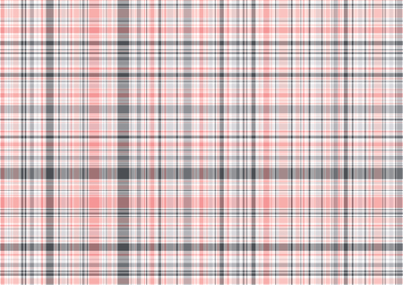 pretty in pink plaid  illustrated pattern background Vector