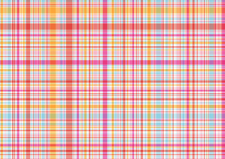 retro summer pink candy plaid  Vector