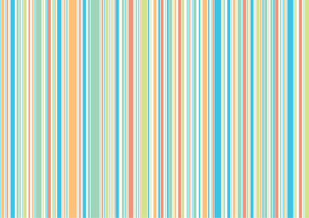 retro beach holiday blue orange stripes - illustrated background Stock Vector - 1874485