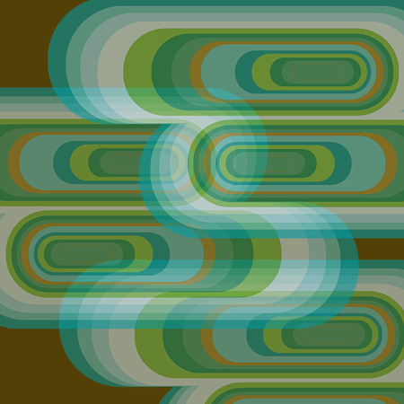 funk: retro green curves glow