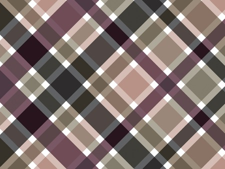 bias: retro coffee brown plaid pattern