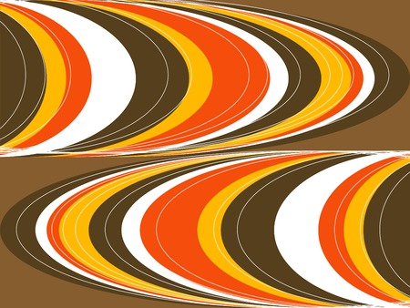 retro fat orange and brown curves Stock Vector - 1832167