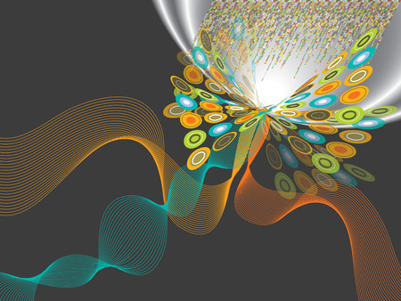 digital pop butterfly twist flare Vector