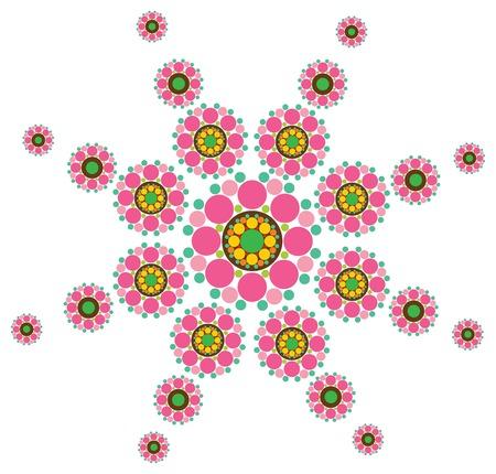 fuchsia snow flower (vector) - illustration Vector