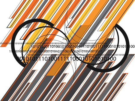 graphique orange lignes grises