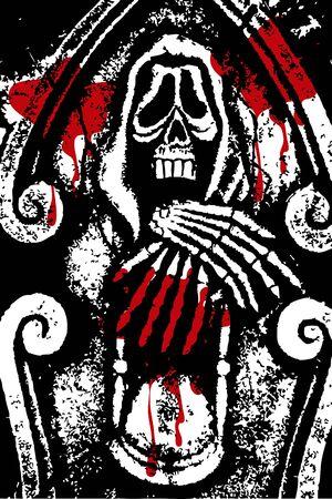 halloween grunge death and blood (vector) Stock Vector - 1852044