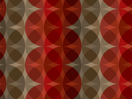 retro red brown circle pattern (vector) Illustration