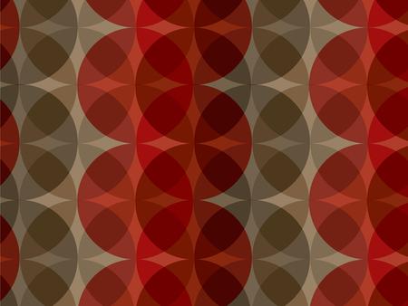 stylize: retro rood bruine cirkel patroon (vector) Stock Illustratie