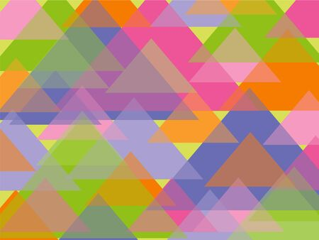 fun pastel triangles background Vector