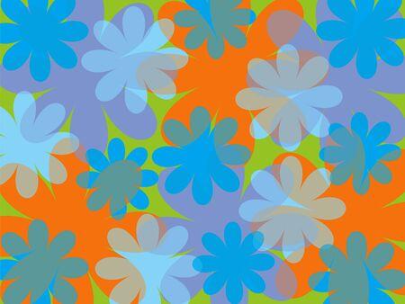 groovy: fun summer blue flower background