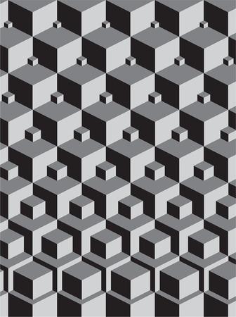 escher inspir� d'empilement des cubes d'art