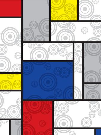 idzie: Mondrian idzie retro drukuj