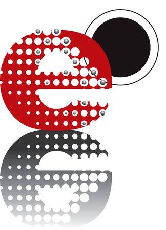 retro dots abstract zen alphabet design - part of a complete set Stock Vector - 1997852