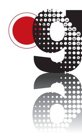 retro dots abstract zen alphabet design - part of a complete set Vector