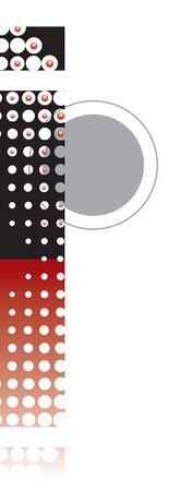 retro dots r�sum� zen alphabet conception - partie d'un ensemble complet Illustration