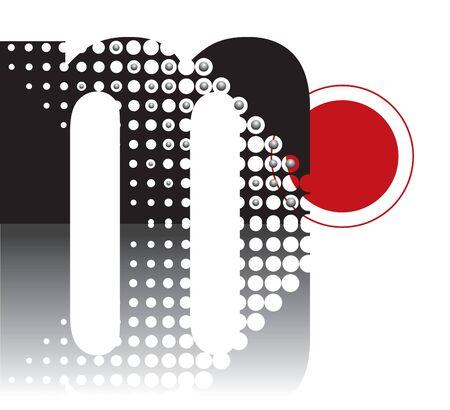 points r�tro r�sum� zen alphabet conception - qui fait partie d'un ensemble complet