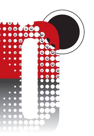 retro dots abstract zen alphabet design - part of a complete set Stock Vector - 1997839