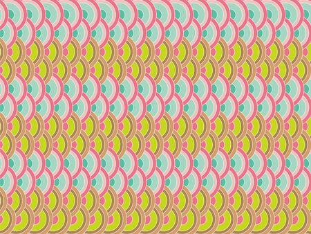 retro pastel scallop pattern Vector