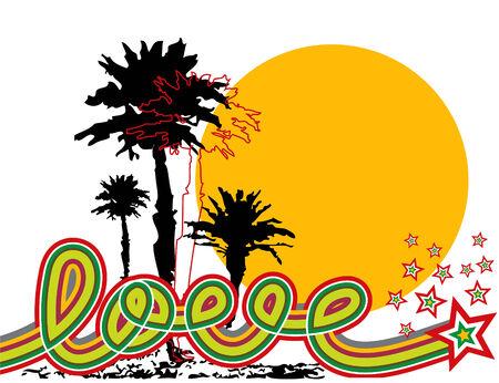retro pop star tropical love (vector) Vector