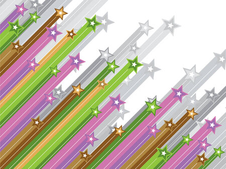 pastel diagonal shooting stars Vector