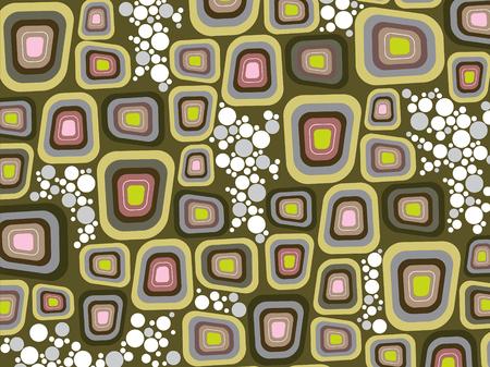 retro purple soft edge squares and dots Illustration