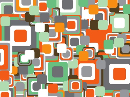 retro power orange squares Vector