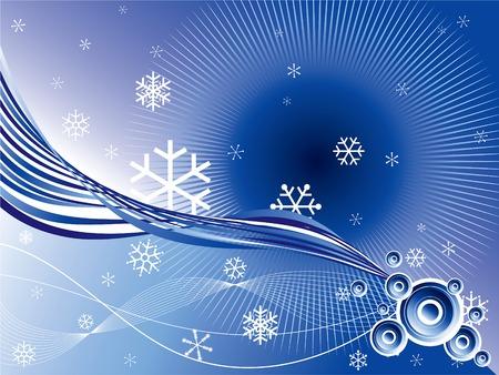 webbing: winter retro circles twist background