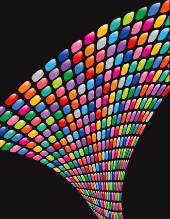 glossy rainbow mosaic squares twist Stock Vector - 2084463