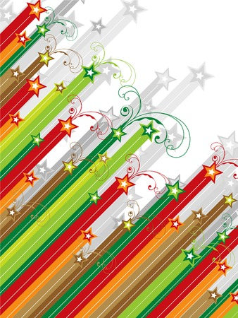 christmas swirls diagonal shooting stars  Vector