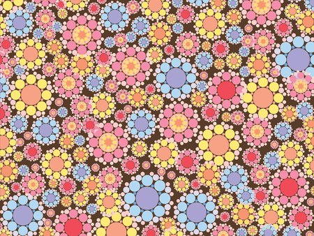 pastel pink and blue snow flowers pattern