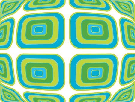 inflar: Retro urdimbre azul verde patr�n  Vectores