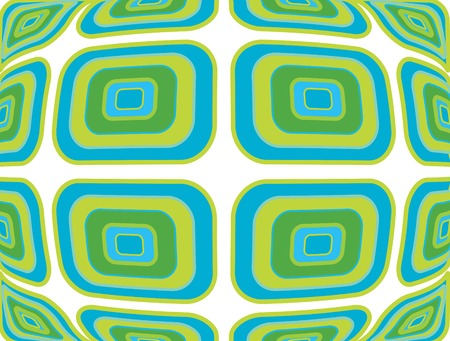 ine: retro warp blue green pattern  Illustration